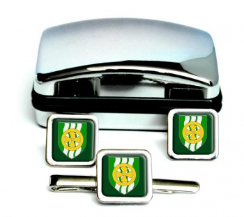 County Limerick (Ireland) Square Cufflink and Tie Clip Set