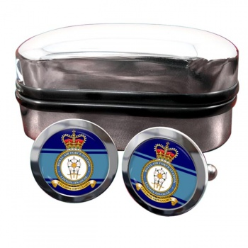 RAF Station Linton-on-Ouse Round Cufflinks