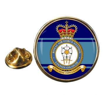 RAF Station Linton-on-Ouse Round Pin Badge