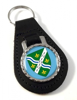 Lincolnshire (England) Leather Key Fob