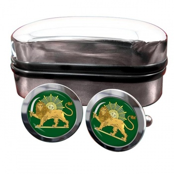 Lion and the Sun Iran Crest Cufflinks