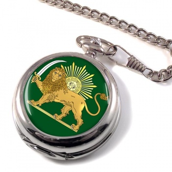 Lion and the Sun Iran Pocket Watch