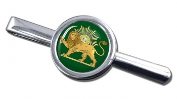 Lion and the Sun Iran Round Tie Clip