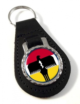 Lipan Apache Nation (Tribe) Leather Key Fob