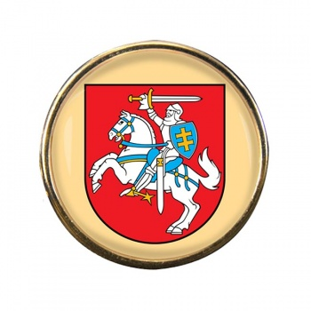 Lithuania Lietuva Round Pin Badge
