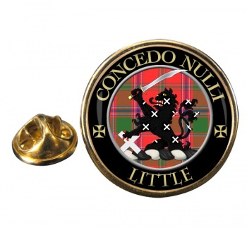 Little Scottish Clan Round Pin Badge