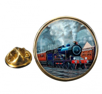 GER Liverpool Street Station Round Lapel