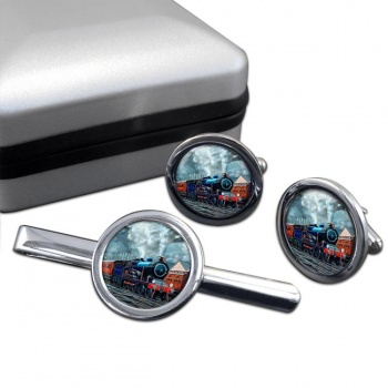 GER Liverpool Street Station Cufflink and Tie Clip Set