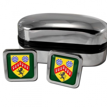 County Laois Ireland Square Cufflinks