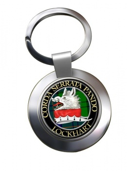 Lockhart Scottish Clan Chrome Key Ring