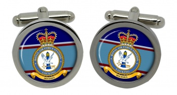 RAF Station Locking (Royal Air Force) Round Cufflinks