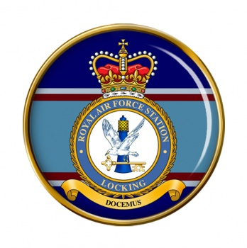 RAF Station Locking (Royal Air Force) Round Pin Badge