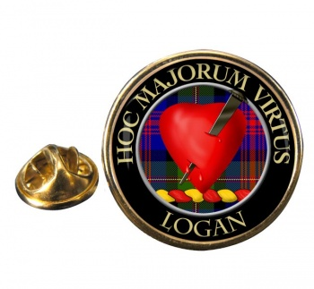 Logan Scottish Clan Round Pin Badge