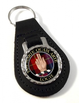 Logie Scottish Clan Leather Key Fob