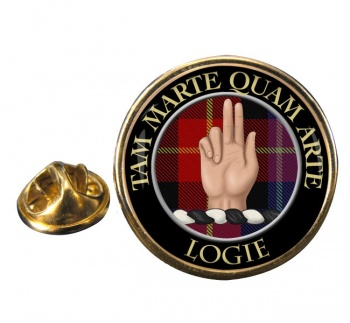 Logie Scottish Clan Round Pin Badge