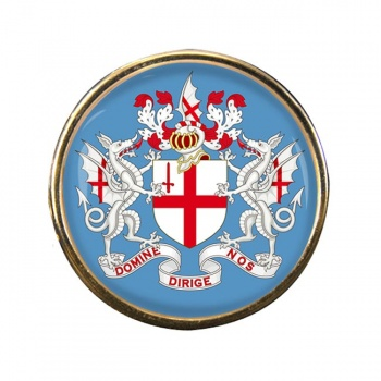 London (England) Round Pin Badge