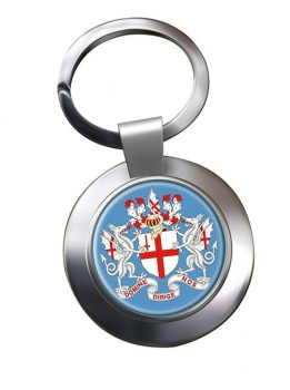 London (England) Metal Key Ring