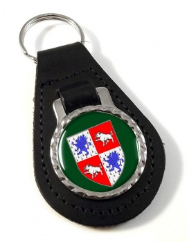 County Longford (Ireland) Leather Key Fob