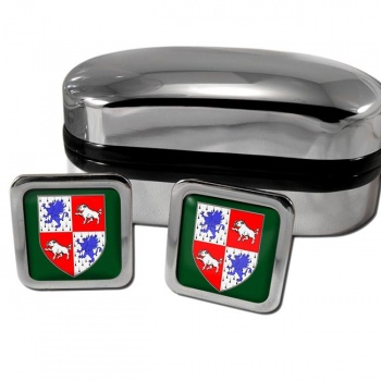 County Longford Ireland Square Cufflinks