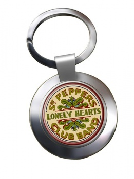 Lonely Heart Chrome Key Ring