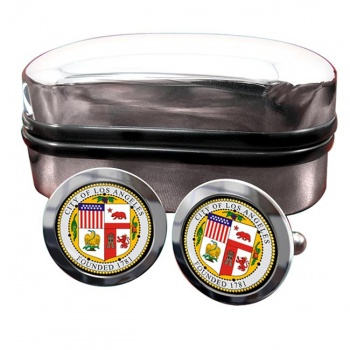 Los Angeles CA  Crest Cufflinks