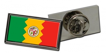 Los Angeles CA  Flag Pin Badge