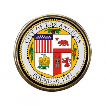 Los Angeles CA Round Pin Badge