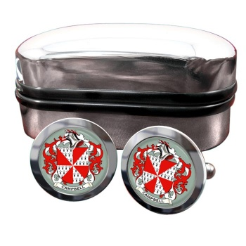 Campbell of Loudoun Coat of Arms Round Cufflinks