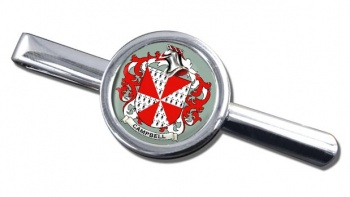 Campbell of Loudoun Coat of Arms Round Tie Clip