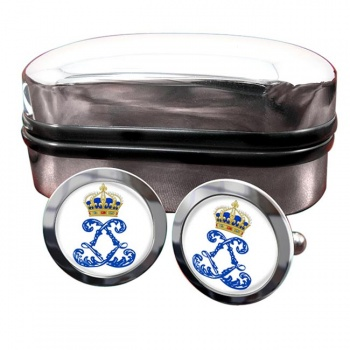 Monogram of Louis XIV (France) Crest Cufflinks