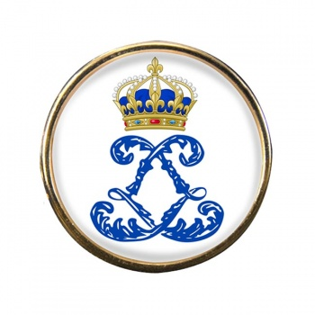 Monogram of Louis XIV (France) Round Pin Badge