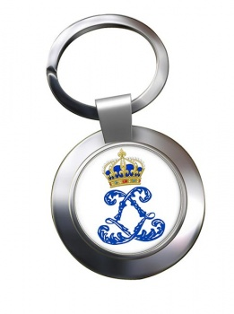 Monogram of Louis XIV (France) Metal Key Ring