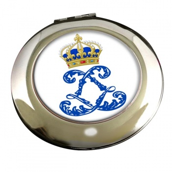 Monogram of Louis XIV (France) Round Mirror