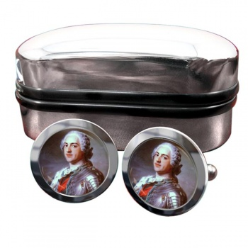 King Louis XV of France Round Cufflinks