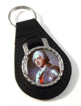 King Louis XV of France Leather Key Fob