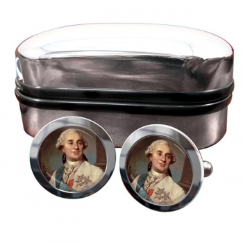 King Louis XVI of France Round Cufflinks