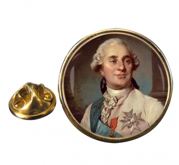 King Louis XVI of France Round Pin Badge