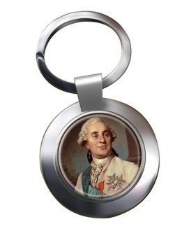 King Louis XVI of France Chrome Key Ring