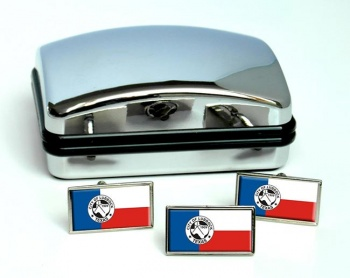 Lubbock TX  Flag Cufflink and Tie Pin Set