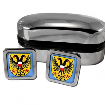 Lubeck Germany Square Cufflinks