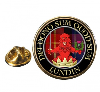 Lundin Scottish Clan Round Pin Badge