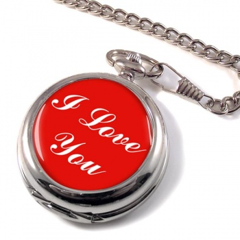 I Love You Pocket Watch