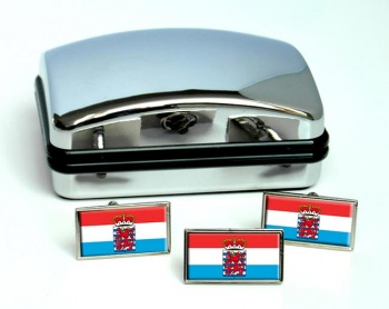 Luxembourg (Belgium) Flag Cufflink and Tie Pin Set