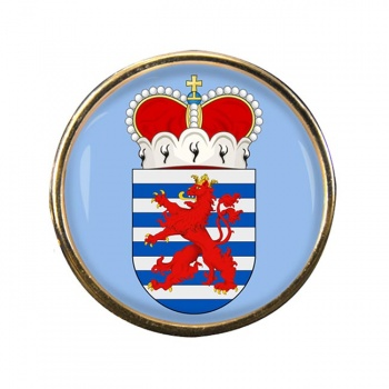 Luxembourg (Belgium) Round Pin Badge