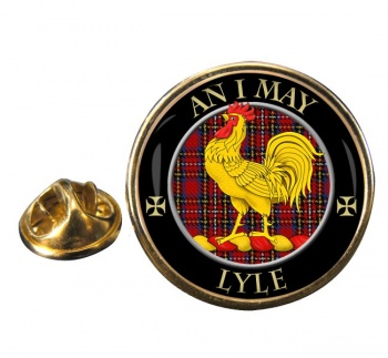 Lyle Scottish Clan Round Pin Badge