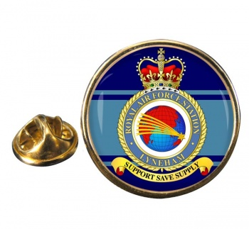 RAF Station Lyneham Round Pin Badge