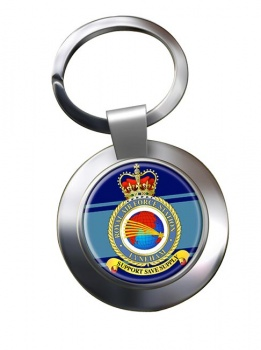 RAF Station Lyneham Chrome Key Ring