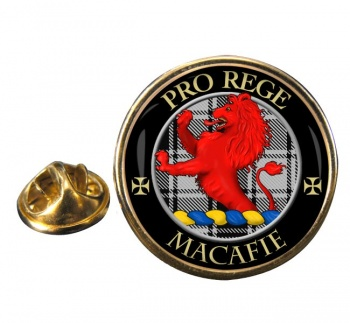 Macafie Ancient Scottish Clan Round Pin Badge