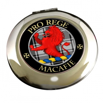 Macafie Ancient Scottish Clan Chrome Mirror