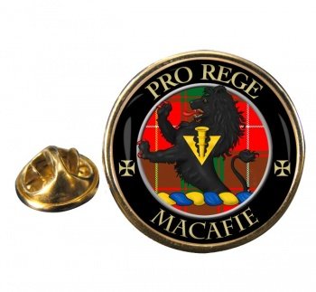 Macafie modern Scottish Clan Round Pin Badge